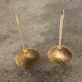 tiny concave oval earring - Lisa Crowder Jewelry