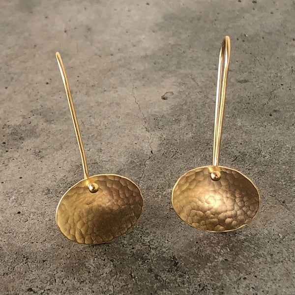 tiny concave oval earring - Lisa Crowder Studio
