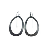 thin rough cut rolled earring - Lisa Crowder Studio