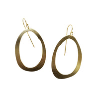 thin rough cut rolled earring - Lisa Crowder Jewelry