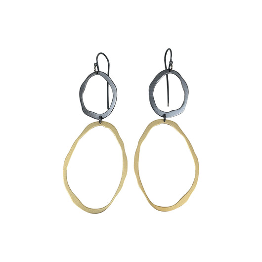thin two rough cut earrings - Lisa Crowder Jewelry