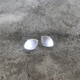 tiny dish post earring - Lisa Crowder Jewelry