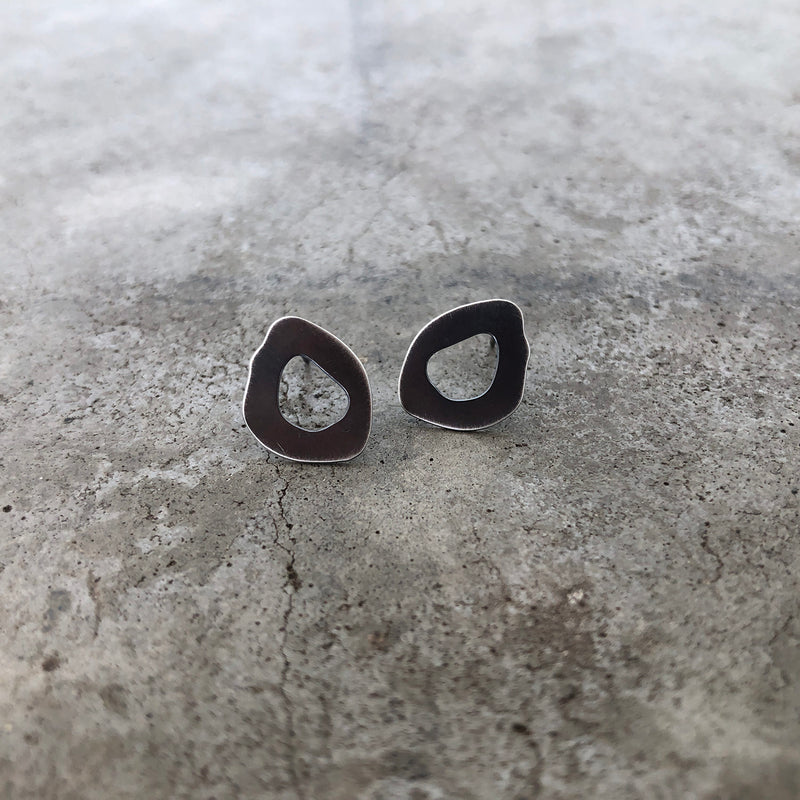 tiny rough cut post earring - Lisa Crowder Studio