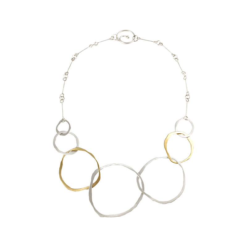 thin seven rough cut two-tone necklace - Lisa Crowder Studio