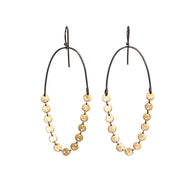 disc chain earrings - Lisa Crowder Studio