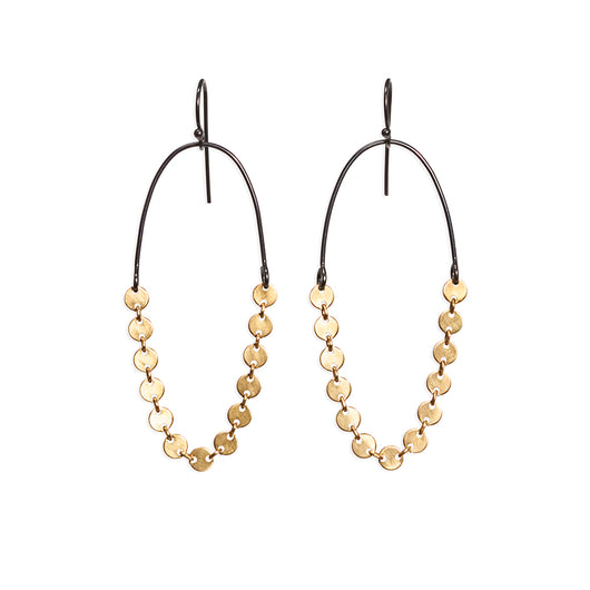 disc chain earrings - Lisa Crowder Jewelry