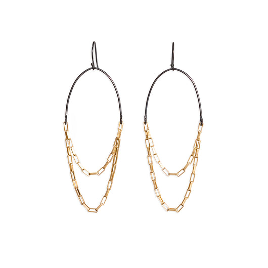 box chain earrings - Lisa Crowder Jewelry