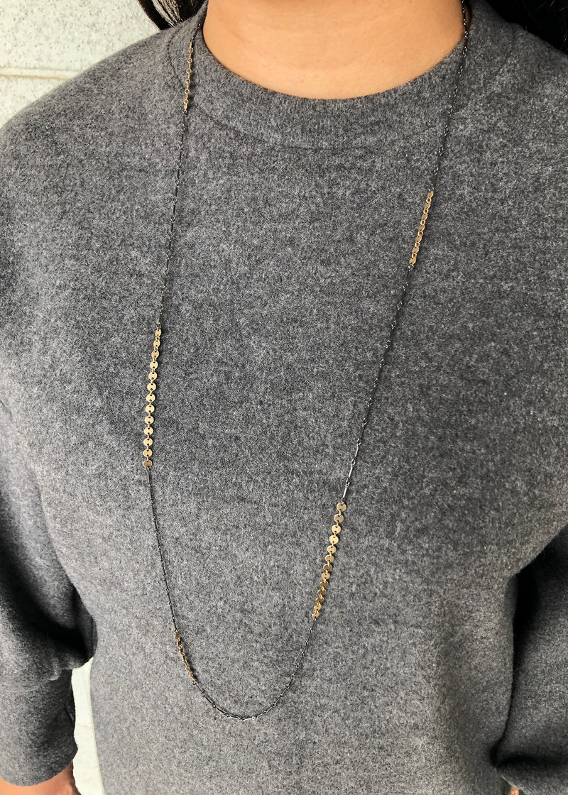long disc chain necklace - Lisa Crowder Jewelry