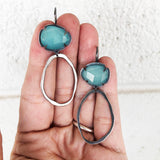 chalcedony rought cut drop earrings - Lisa Crowder Jewelry