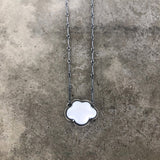tiny white enamel cloud necklace - Lisa Crowder Jewelry