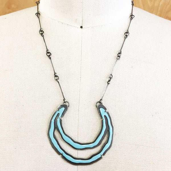 Rough Cut Double Cut Out Necklace - Lisa Crowder Studio