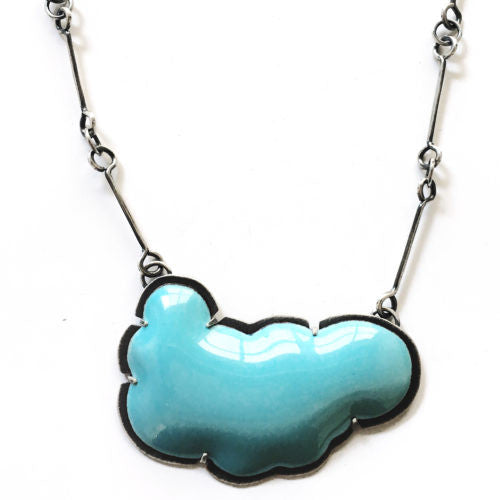 large blue enamel cloud necklace - Lisa Crowder Jewelry
