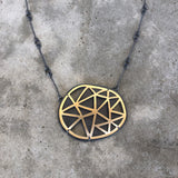 geo two tone necklace