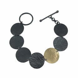 hammered single disc bracelet - Lisa Crowder Jewelry