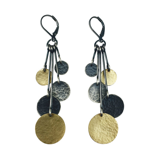 five hammered disc earring - Lisa Crowder Jewelry
