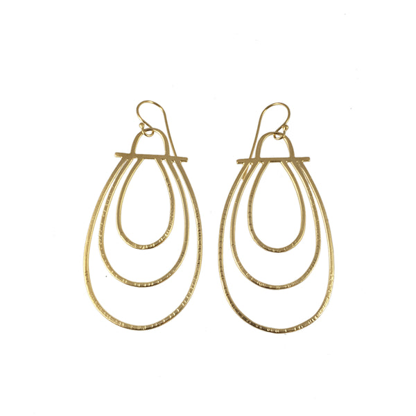 hatch teardrop earrings - Lisa Crowder Studio