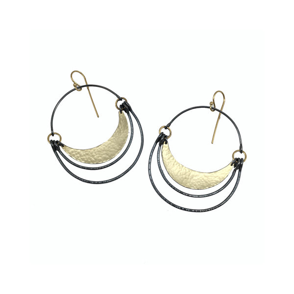 double arc hatch earring - Lisa Crowder Studio