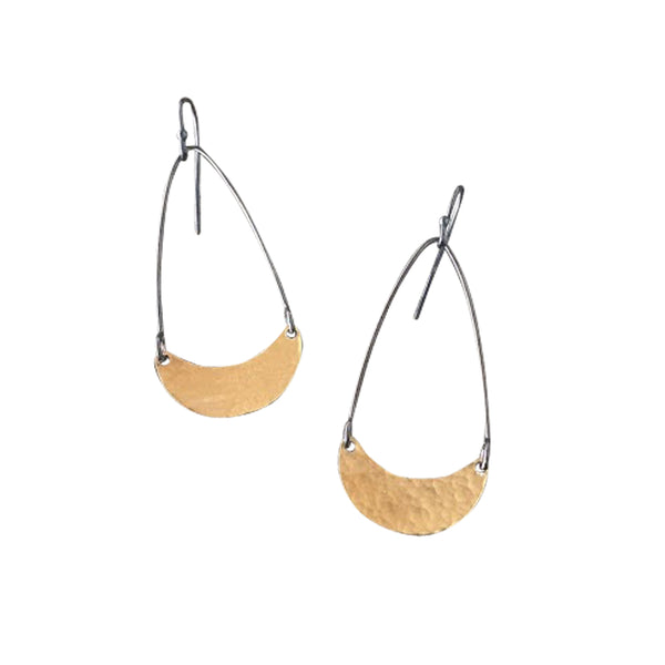 tiny single arc earrings - Lisa Crowder Jewelry