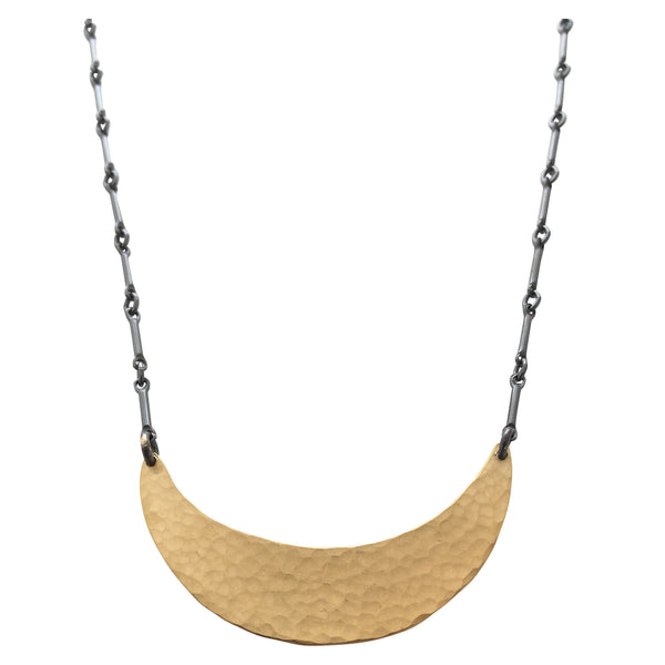 tiny hammered single arc necklace - Lisa Crowder Jewelry