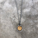 tiny single stirrup necklace - Lisa Crowder Studio