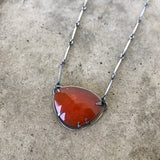 carnelian freeform necklace