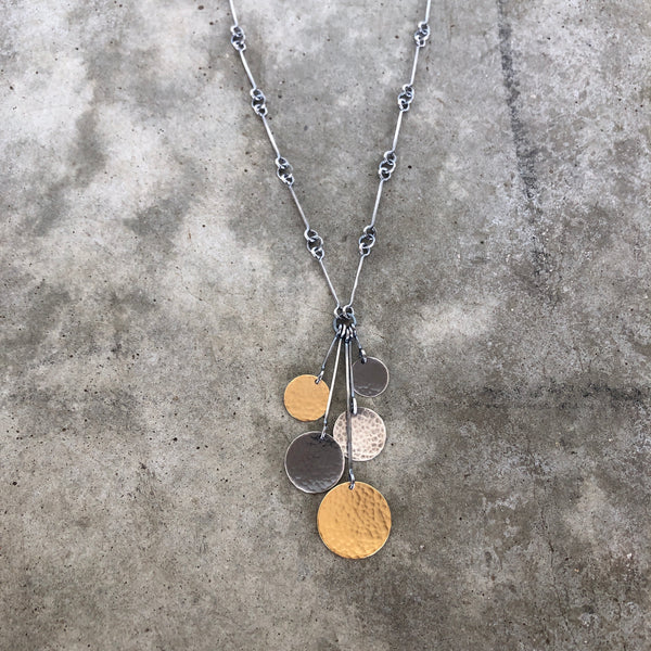 hammered five disc necklace - Lisa Crowder Studio