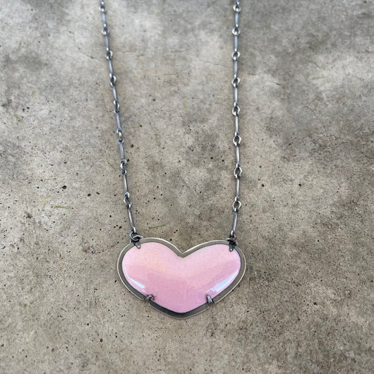 original enamel heart necklace