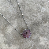 hexagon star sapphire necklace
