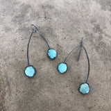 double amazonite earrings