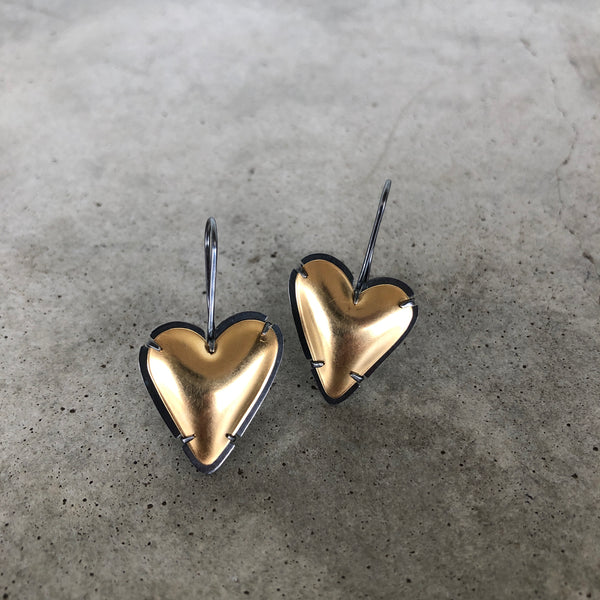 gold fill new heart earring