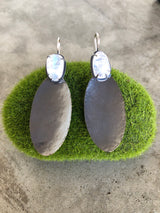 rainbow moonstone oval drop earrings