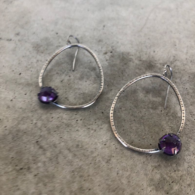 amethyst hatch hoops