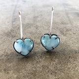 larimar heart earrings
