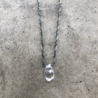 herkimer diamond stone necklace - Lisa Crowder Jewelry