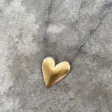 large gold heart necklace