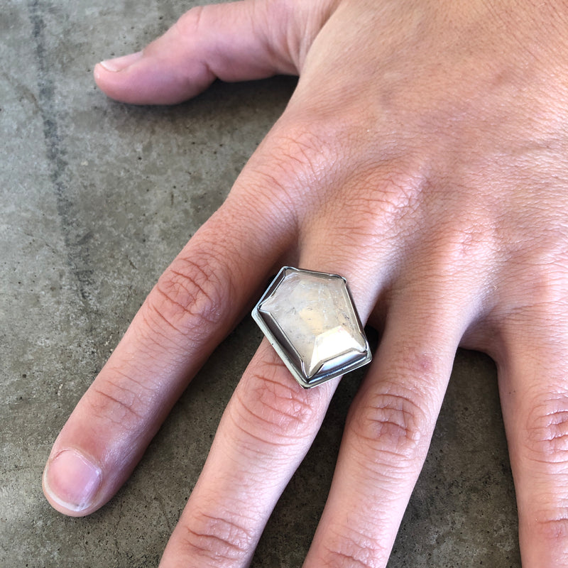 geometric quartz ring