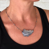 large white chlacedony cloud necklace