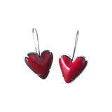 enamel heart earring - Lisa Crowder Jewelry