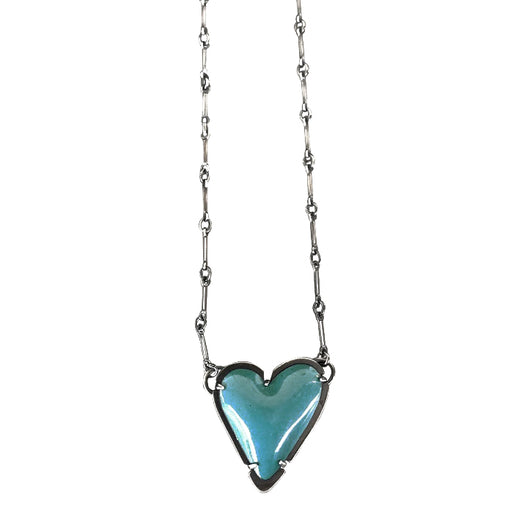 enamel new heart necklace - Lisa Crowder Jewelry