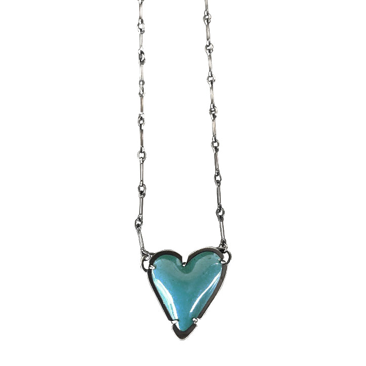 enamel new heart necklace - Lisa Crowder Studio