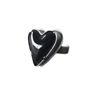 black enamel heart ring - Lisa Crowder Jewelry