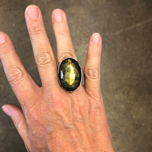 oval labradorite ring - Lisa Crowder Jewelry