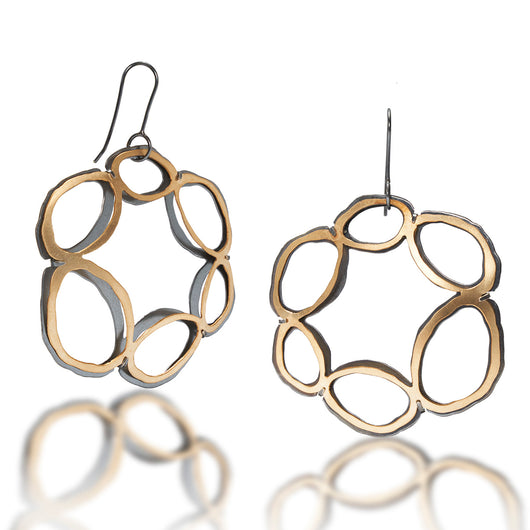 rough cut basket earrings - Lisa Crowder Jewelry