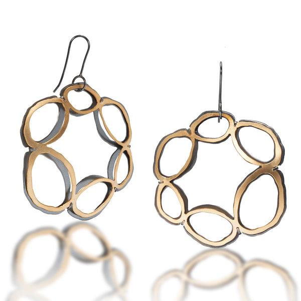 rough cut basket earrings - Lisa Crowder Studio