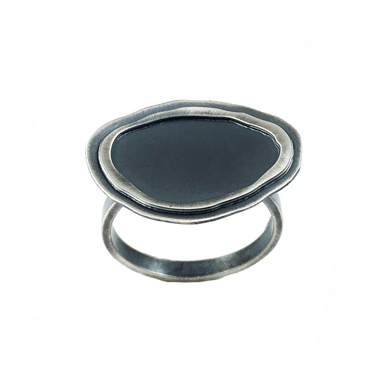 tiny rough cut double layer horizontal ring - Lisa Crowder Jewelry