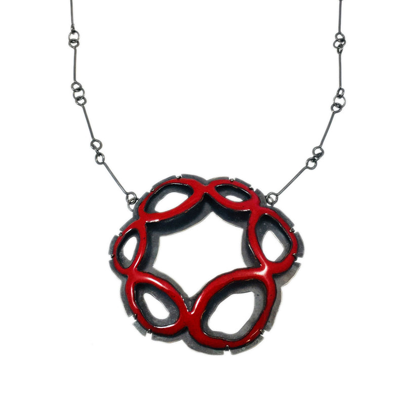 Rough Cut Basket Necklace - Lisa Crowder Studio