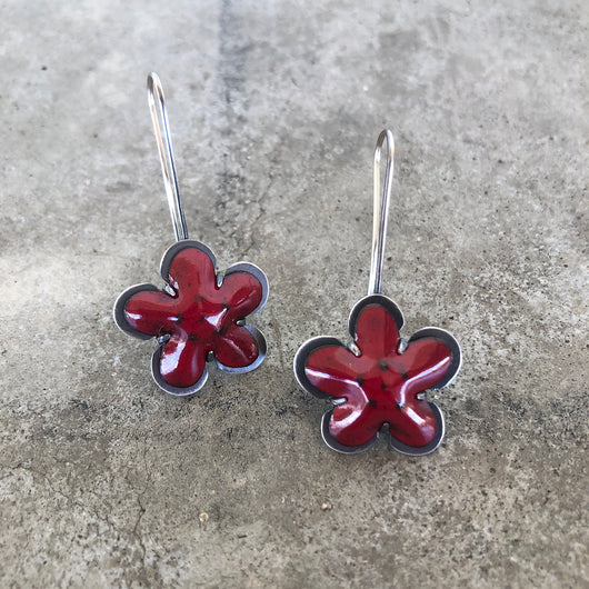 enamel flower earring - Lisa Crowder Jewelry