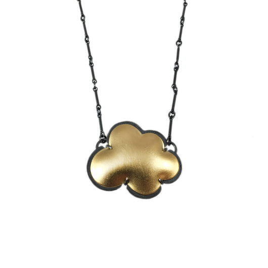 vermeil tiny cloud necklace - Lisa Crowder Jewelry
