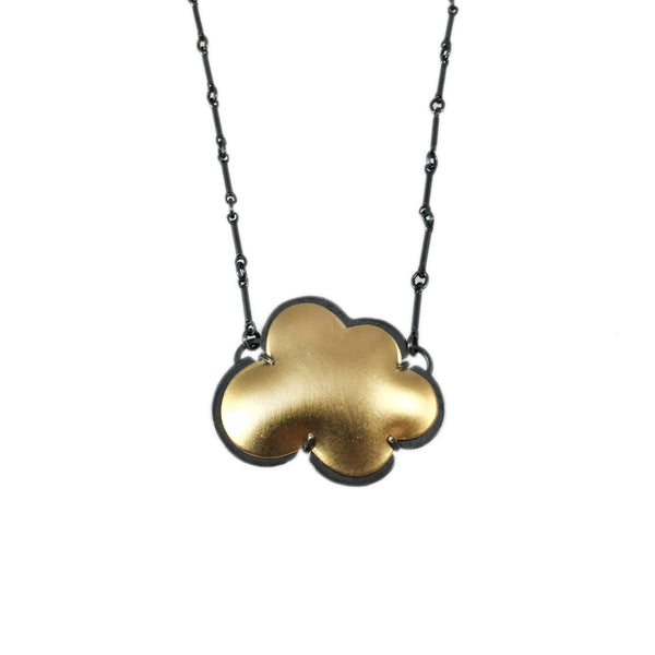 vermeil small cloud necklace - Lisa Crowder Studio