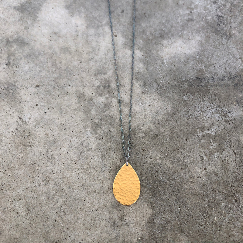 hammered teardrop necklaces - Lisa Crowder Jewelry